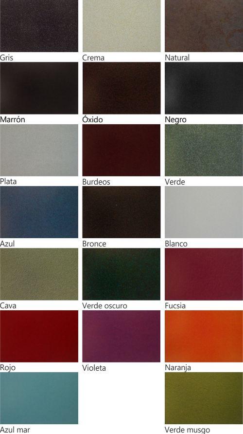 Colores Jayso Standart de silla forja sf-121