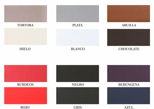 cabecero polipiel color arcilla con todos los 12 colores a elegir para el cabezal ref: 100/2